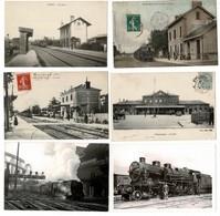42 CP Lot N°58 Dont Trains: Gares De RICHELIEU-MANDUEL-GASNY+LOCOS+Marché à SAVENAY+ CHOIX DIVERS - Cartes Postales