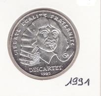 100 Frs 1991 Descartes Argent - France