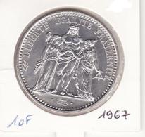 10 Frs 1967 Hercule Argent - France