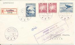 Greenland Registered Cover Sent To Jordan APUTITEQ 1-3-1971 Return To Sender Delivery Prevented By Enemy Occupation Of - Grönland