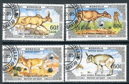 Y85 MONGOLIA 1986 1815-1818 Protected Animals - Saiga - W.W.F.