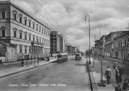 """07974 """"CATANIA -CORSO ITALIA - PALAZZO DELLE SCIENZE"""" ANIMATA, BUS. CART  SPED 1956 - Catania"""