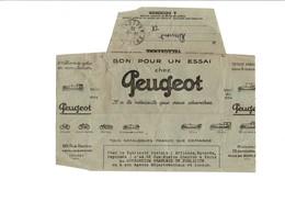 1925 PUBLICITE VOITURESCYCLES MOTOS PEUGEOT SUR TELEGRAMME - Werbung