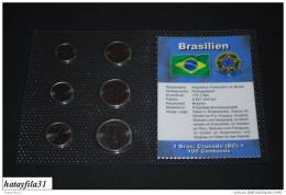 KMS - Brasilien / 6W - 1 Centavo Bis 1 Cruzado  - Kompl. Ausg. - Brasil