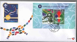 South Africa 2007 First Day Cover FDC Centenary Of Scouting People Celebrations Scouts Organizations Flags Stamp SG1632 - Scouting