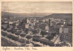 "07980 ""CAGLIARI - QUARTIERE VILLA NOVA"" VEDUTA. CART  SPED 1935 - Cagliari"