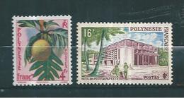 Timbre De Polynésie De 1958/60  N°13 Et 14  Neuf ** - Französisch-Polynesien