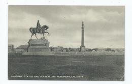 India Hardinge Statue And Ochterlong Monument Calcutta - Inde