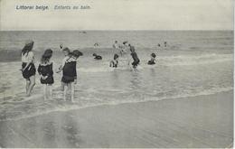 Littoral Belge.   Enfants Au Bain - Oostende