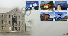 South Africa 2007 First Day Cover FDC Mills Windmill Watermil Building Architecture Geography Places 9/11/2007 Stamps - Architecture