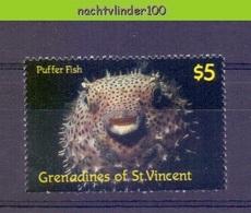Mwy049 FAUNA VISSEN KOGELVIS FISH FISCHE POISSONS MARINE LIFE  GRENADINES OF ST. VINCENT 1987 PF/MNH - Fische