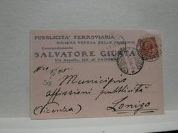 PADOVA  ---   GIUNTA SALVATORE -- PUBBLICITA' FERROVIARIA - Padova (Padua)