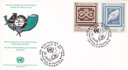 UNITED NATIONS 40° ANNIVERSAIRE DE L' ADMINISTRATION POSTALE DES NATIONS UNIES VIENNA ANNO 1991 - Protezione Dell'Ambiente & Clima