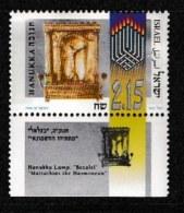 ISRAEL, 1999, Mint Never Hinged Stamp(s), Hanukka, M1497,  Scan 17138, With Tab(s) - Israel