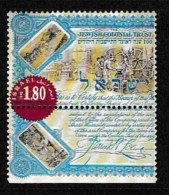 ISRAEL, 1999, Mint Never Hinged Stamp(s), Colonial Trust, M1503,  Scan 17142, With Tab(s) - Unused Stamps (with Tabs)
