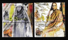 ISRAEL, 1999, Mint Never Hinged Stamp(s), Ethnic Costumes, M1504-1505,  Scan 17143, With Tab(s) - Israel