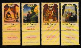ISRAEL, 1999, Mint Never Hinged Stamp(s), Festival Sukkot, M1528-1531,  Scan 17153, With Tab(s) - Israel