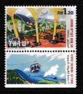 ISRAEL, 1999, Mint Never Hinged Stamp(s), Kiryat Shemona, M1534,  Scan 17155, With Tab(s) - Israel