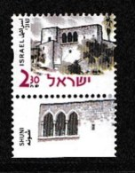 ISRAEL, 2000, Mint Never Hinged Stamp(s), Building & Historic Sites, M1545,  Scan 17159, With Tab(s) - Israel