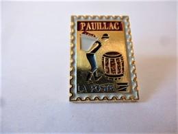 PINS LA POSTE PAUILLAC 33 GIRONDE Tonneau Vigneron Vendanges / Base Dorée / 33NAT - Mail Services