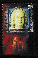 ISRAEL, 2000, Mint Never Hinged Stamp(s), Johan Sebastian Bach, M1559,  Scan 17165, With Tab(s) - Israel