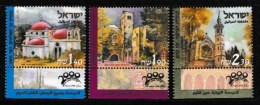 ISRAEL, 2000, Mint Never Hinged Stamp(s), Pelgrimation To The Holy Land,  M 1549-1551, Scan 17166, With Tab(s) - Israel