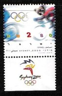 ISRAEL, 2000, Mint Never Hinged Stamp(s), Olympic Games,  M 1562, Scan 17169, With Tab(s) - Israel