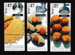 ISRAEL, 2000, Mint Never Hinged Stamp(s), Israeli Food,  M 1563-1565, Scan 17174, With Tab(s) - Israel
