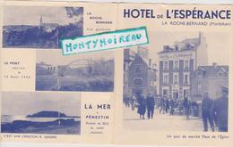Vieux  Papier : Morbihan :  LA  ROCHE  BERNARD : Hotel De L ' Espérance , Jour De  Marché - Vieux Papiers
