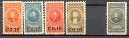 Costa Rica - 1947/1948 - Yt PA 146-148-150-178 - Série Courante Et Surchargés - * Charnières - Costa Rica