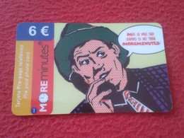 ANTIGUA TARJETA TELEFÓNICA PHONE CARD ESPAÑA SPAIN ESPAGNE ? MOREMINUTES MORE MINUTES HOMBRE CON SOMBRERO IMAGEN RETRO - Espagne