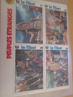 CLI718 VIGNETTES PEUPLES ETRANGES : LE TIBET , 2 Feuilles 2 Pages Prises Dans Revue Spirou Des 60/70's - Autres