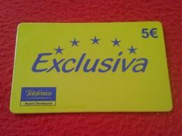 ANTIGUA TARJETA TELEFÓNICA PHONE CARD ESPAÑA SPAIN ESPAGNE TELEFÓNICA EXCLUSIVA 5 EUROS VER FOTO/S Y DESCRIPCIÓN. IDEAL - Espagne