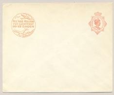 Nederlands Indië - 1930 - 12,5 Wilhelmina, Envelop G54a Met Luchtpostreklame Ongebruikt - Nederlands-Indië
