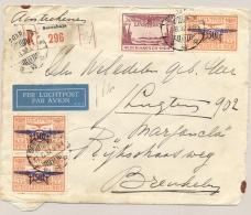 Nederlands Indië - 1932 - 4x LP Zegel 180 Cent Frankering Op R-coverfront Van Soerabaja/11 Naar Breukelen / Nederland - Nederlands-Indië