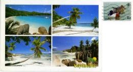 SEYCHELLES  PRESLIN  MAHÉ  LA DIGUE  Anse Lazio  Baie Lazare  Source D'Argent Nice Stamp  Bird Theme - Seychelles