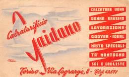 """08017 """"GAIDANO - CALZATURIFIO - TORINO"""" CART. DA VISISTA ORIG. 1950 CIRCA - Cartoncini Da Visita"""