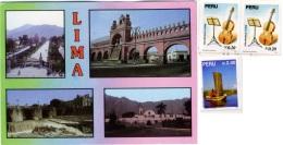 PERU  LIMA  Multiview  4 Nice Stamps - Perù