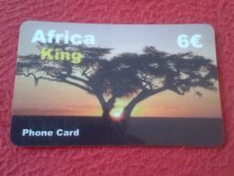 RARA ANTIGUA TARJETA TELEFÓNICA PHONE CARD ESPAÑA SPAIN ESPAGNE ? AFRICA KING 6 EUROS AFRIQUE ÁRBOL TREE VER FOTO/S Y DE - Espagne
