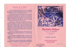 PROGRAMME-OFFICIEL-VARIETES-PALACE-CHARLEROI-DEPLIANT-OPERETTE-OPERA-BALLET-1944-ROSE-MARIE-VOYEZ LES 2 SCANS - Programmes