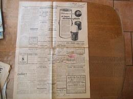 TIMBRE DIMENSION 4 FRANCS ET TIMBRE FISCAL 1 FRANC SUR JOURNAL L'UNION REPUBLICAINE DE L'AISNE DU 31 OCTOBRE 1937 - Steuermarken