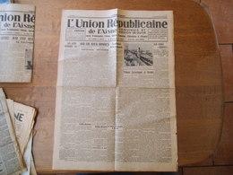 L'UNION REPUBLICAINE DE L'AISNE VERVINOIS ET REGION DE GUISE DU 30 OCTOBRE 1938 - Zeitungen