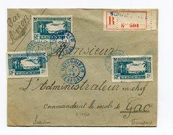 !!! PRIX FIXE : SENEGAL, LETTRE RECO PAR AVION DE GUINGUINEO DE 1943 POUR GAO, AFFRANCH RECTO VERSO - Sénégal (1887-1944)
