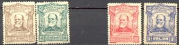 Costa Rica - 1923 - Yt 111/112/114/115 - Centenaire Naissance Du Président Jímenez - * TC - Costa Rica