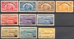 Costa Rica - 1940 - Timbres Normaux Et PA Surchargés - Yt 184A/184E - PA 44A / PA 44F + PA 45  - * TC - Costa Rica