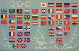 1936, Olympia - Flaggen Der Teilnehmenden Länder Gebraucht - Summer 1936: Berlin