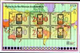 82621)  Palau 2000 Mf 1493-98 Passaggio All'anno 2000 -MNH** - Palau