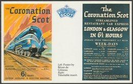 London, Midland And Scottish Railway Coronation Scot - Dalkeith Postcard - Trains