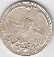 5  RM, Abbildung Adolf Hitler 1935; - 5 Reichsmark