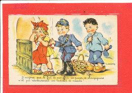 GOUGEON Illustrateur ENFANT COMIQUE Cpa Animée Champignon Garde Champetre          Edit Hamel - Gougeon